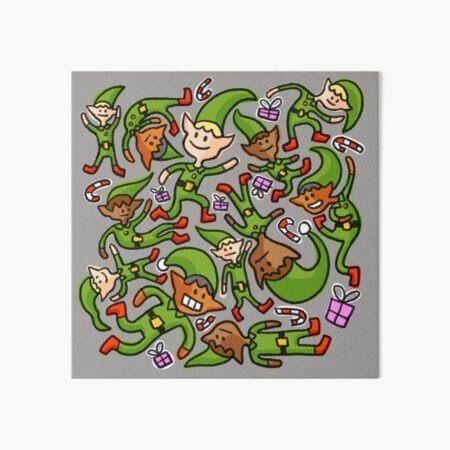 Pile of Elves Art Board Print