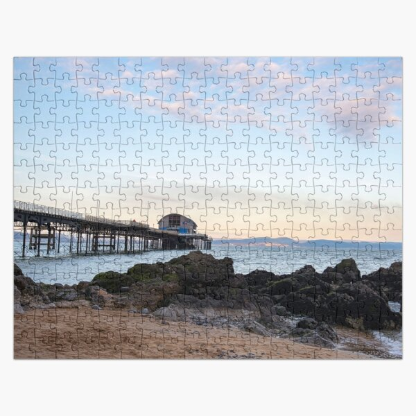 Sunset at mumbles pier Jigsaw Puzzle