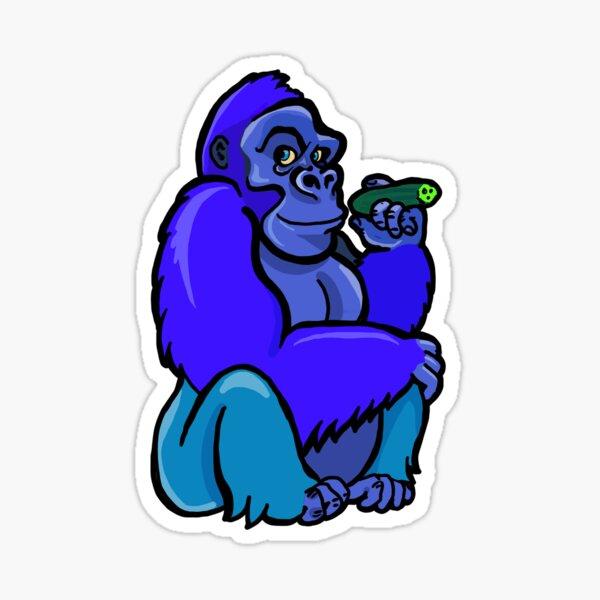 A Sitting Gorilla Holding a Cucumber as if it were a Cigar Sticker