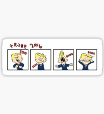 Donald and Hobbes 2016 Sticker