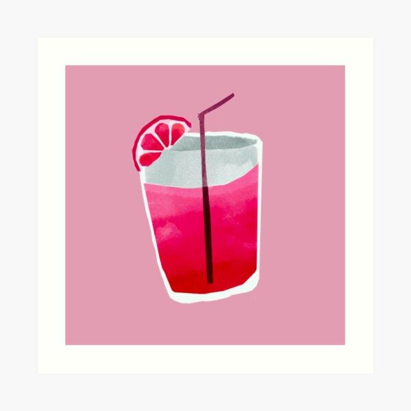 Raspberry drink Art Print