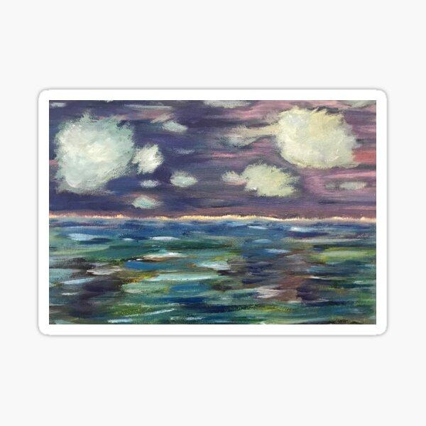 Stormy Sky and Sea Print Sticker