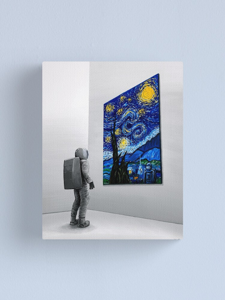 Alternate view of The Critic Canvas Print