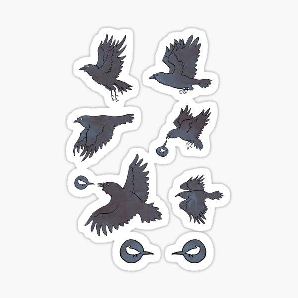 Flight of Ravens Sticker
