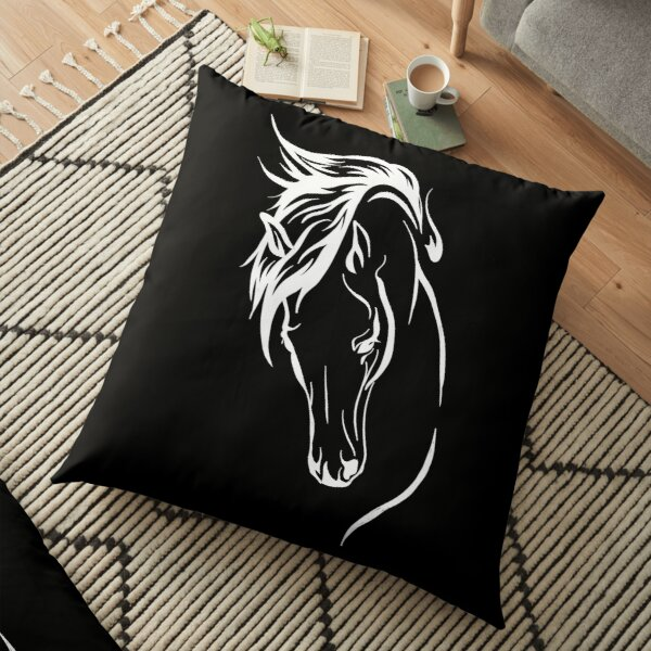Horse Art Floor Pillow
