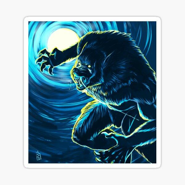 Blood Moon (Blue version) Sticker