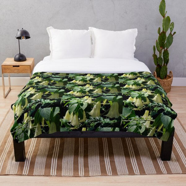 Datura Blooms - Hawaii Throw Blanket