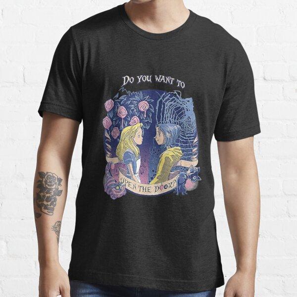 """Coraline & Alice """"Open the door"""" T-Shirt Essential T-Shirt"""