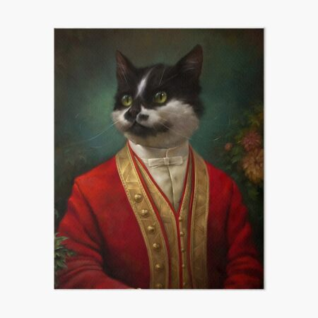 The Hermitage Court Waiter Cat Poster Art Board Print