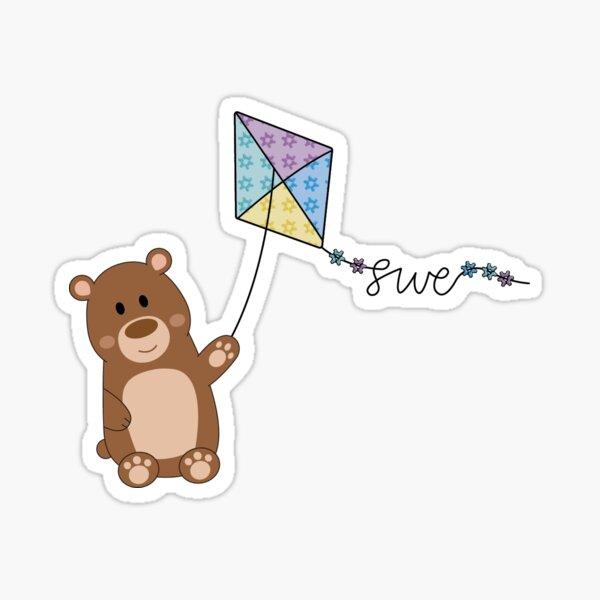 Bear with SWE Kite Sticker