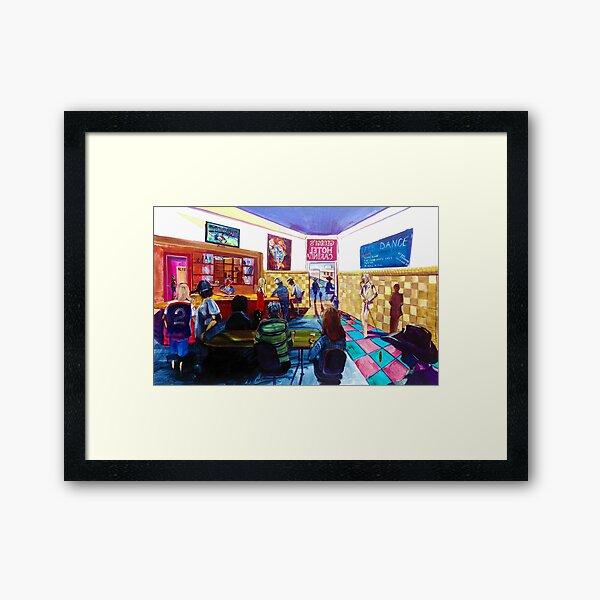2019 Let's Dance Carinda - Sunday - Jeff Duff Band - Grand Final and the Carinda Hotel Framed Art Print
