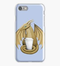 Latte Dragon (blue eye) iPhone Case/Skin