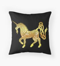 Celtic Unicorn 1 Tee Throw Pillow