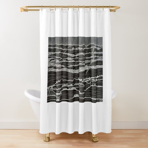 Wild things in holes and caves Shower Curtain