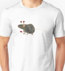 Valentine Rat  Unisex T-Shirt
