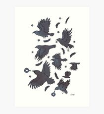 Flight of Ravens Art Print