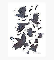 Flight of Ravens Photographic Print