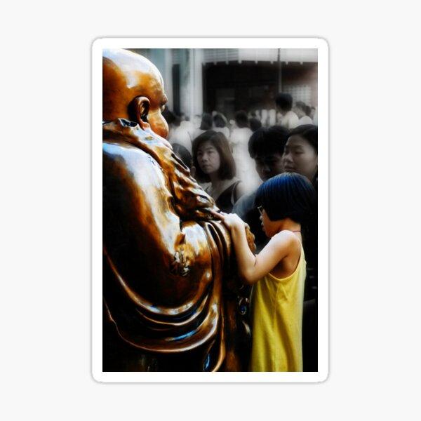 Touching Buddha Sticker