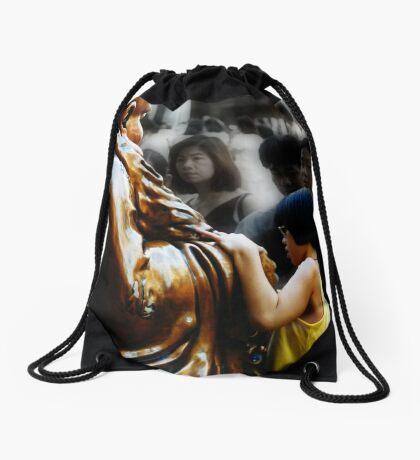 Touching Buddha Drawstring Bag