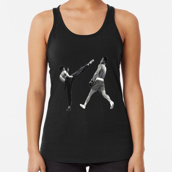 Camiseta Bruce Lee vs Muhammad Ali Camiseta con espalda nadadora