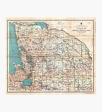 Topographic map Photographic Print