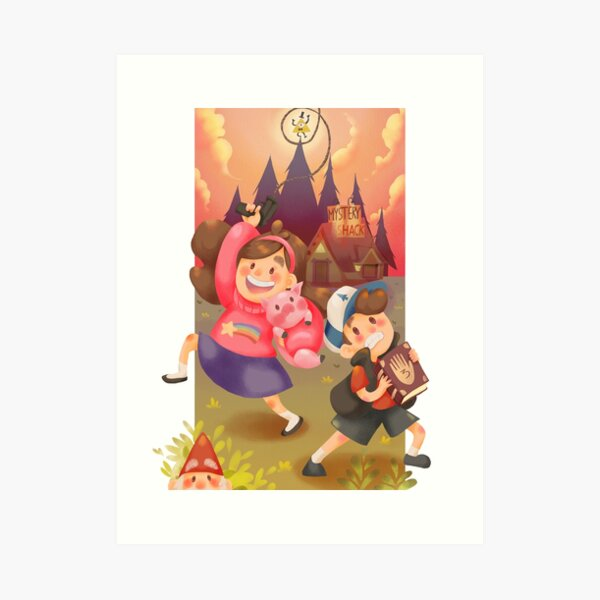 Gravity Falls Adventures Art Print