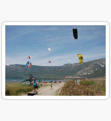 Kitesurfing at Akcapinar, Gokova, Akyaka - Turkey Sticker