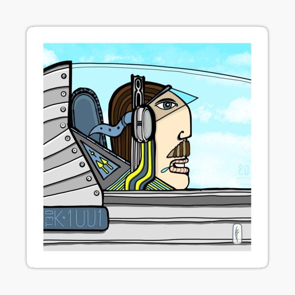 Pilot Ted Sticker