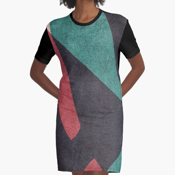 ABSTRACT ALPHABET / Gothic W Graphic T-Shirt Dress
