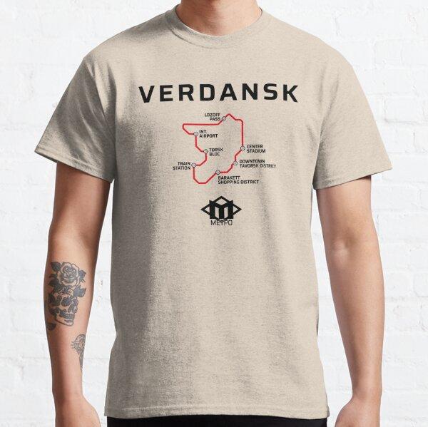Mapa del metro de Verdansk Warzone Camiseta clásica