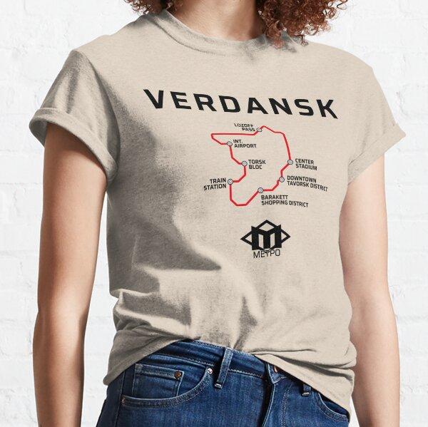 Verdansk Metro Map Warzone Classic T-Shirt