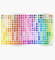 Crayon Color Chart Poster