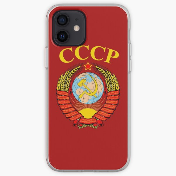 Soviet Union Emblem CCCP Red Star Hammer And Sickle iPhone Soft Case