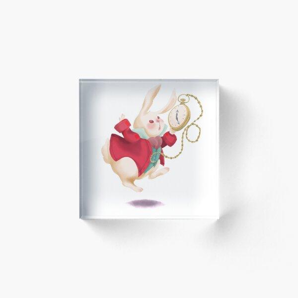 White Rabbit Acrylic Block