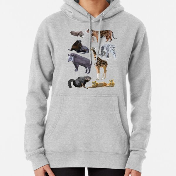 Mixed Mammal Pullover Hoodie