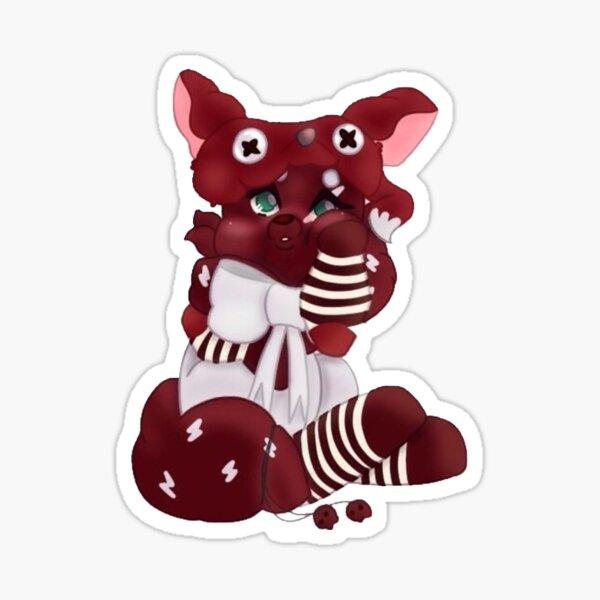 Fluffy red fox Sticker