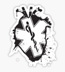 star of life anatomical heart Sticker