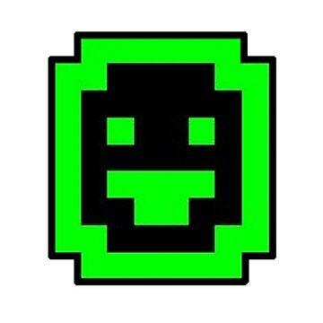 Dwarf Fortress Dwarf (Green on Black) by ilikeeggs