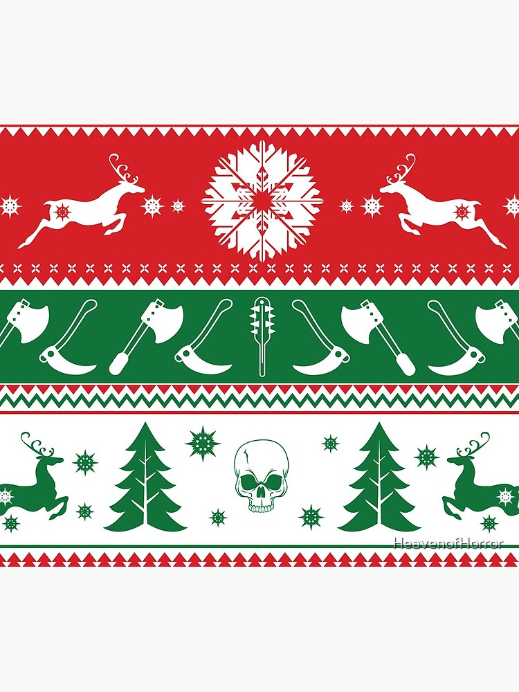 Ugly Horror Christmas Sweater by HeavenofHorror