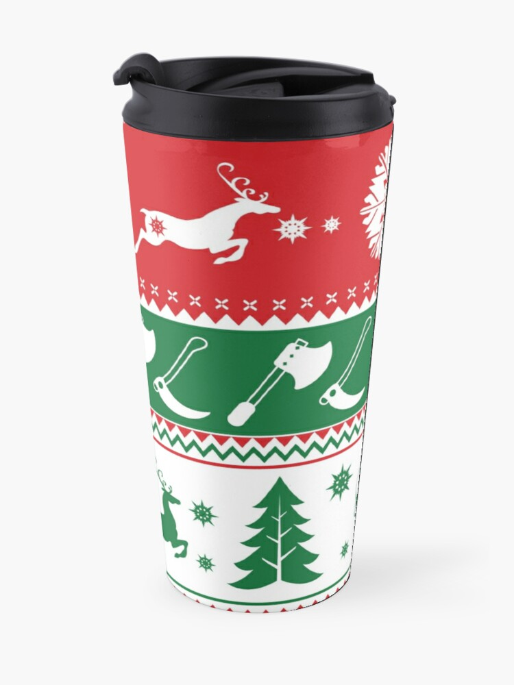 Alternate view of Ugly Horror Christmas Sweater Travel Mug