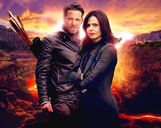 OUAT in the Underworld - Robin and Regina by faithfearcolide