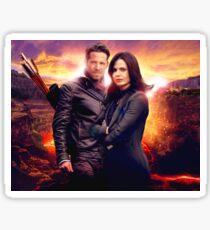 OUAT in the Underworld - Robin and Regina Sticker