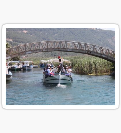 Boat Tour Along the Azmak, Akyaka Turkey Sticker