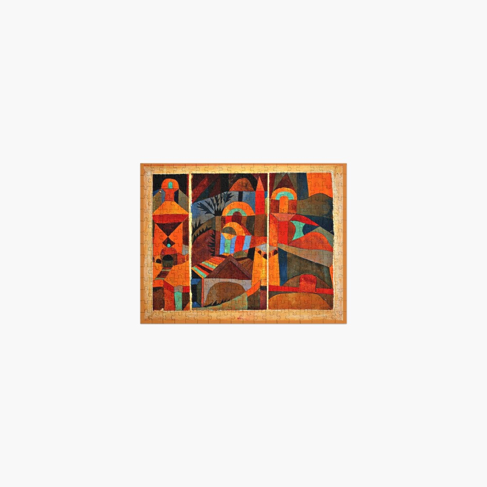 Klee - Temple Gardens, abstract art Jigsaw Puzzle