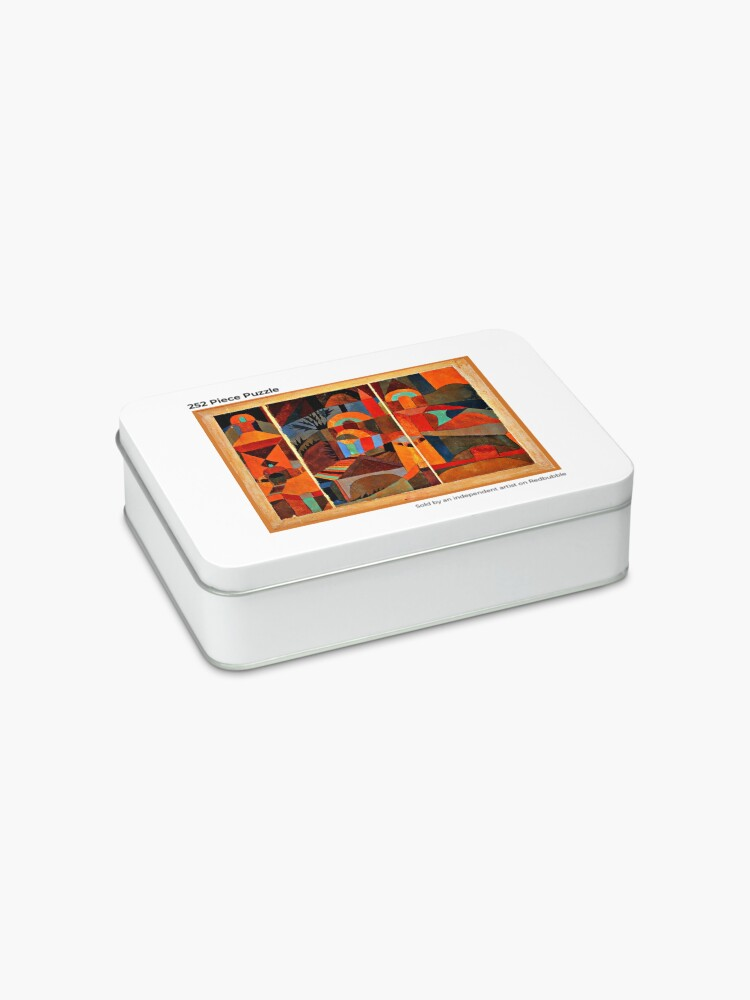 Alternate view of Klee - Temple Gardens, abstract art Jigsaw Puzzle