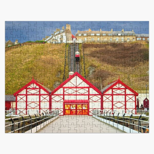 Saltburn by the Sea Pier and cliff lift Jigsaw Puzzle