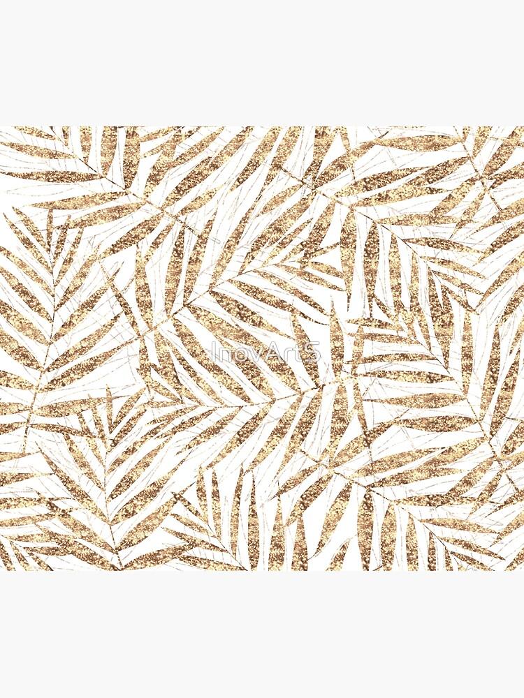 Elegant golden tropical palm leaves design by InovArtS