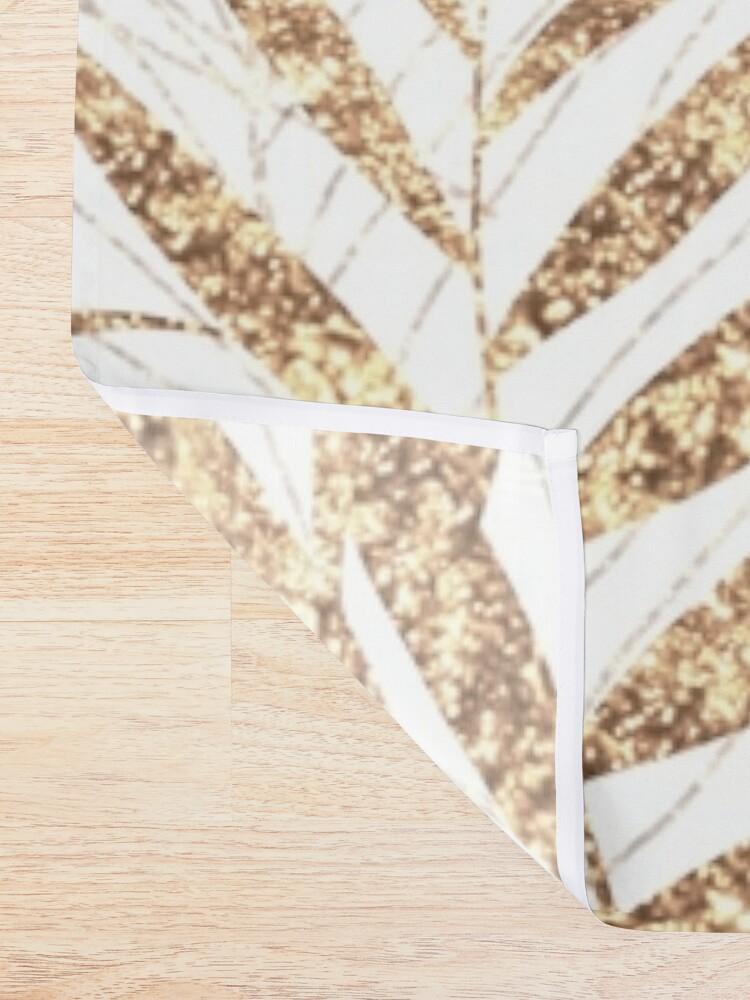 Alternate view of Elegant golden tropical palm leaves design Shower Curtain