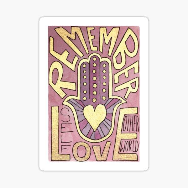 Remember Love Sticker