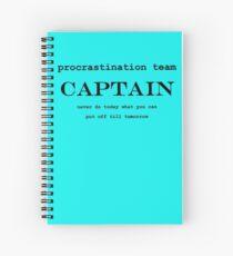 Procrastination Team Captain Spiral Notebook